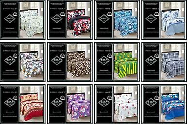 Bamboo Home Sheet Set Queen Size Choose Multi Style Design 1800 Series 4 PCS