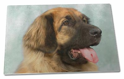 Blonde Leonberger Dog Extra Large Toughened Glass Cutting, Chopping , AD-LE1GCBL