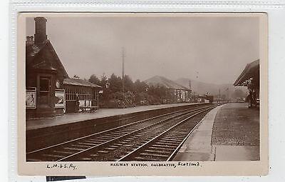 RAILWAY STATION, DALBEATTIE: Kirkcudbrightshire postcard (C28454)