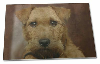 Lakeland Terrier Dog Extra Large Toughened Glass Cutting, Chopping B, AD-LT2GCBL