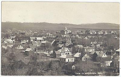 1911 Sheridan, Wyoming - REAL PHOTO Town View - Vintage Historic Postcard