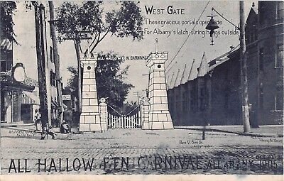 1905 Stores West Gate All Halloween Carnival Albany NY post card