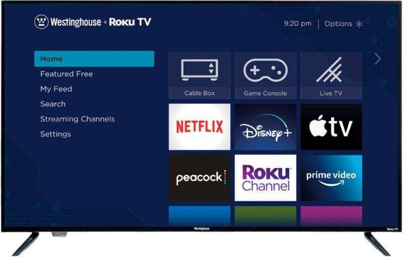 """Westinghouse - 43"""" Class LED 4K UHD Smart Roku TV"""