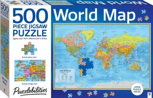 500 Piece Puzzlebilities Jigsaw Puzzle - World Map