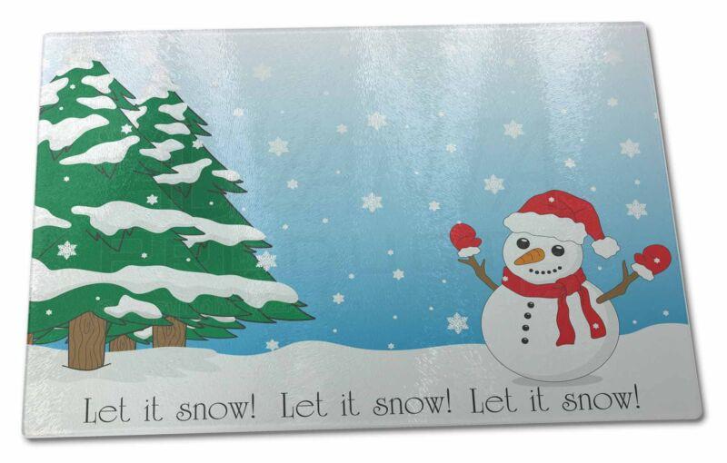 Snow+Man+X+Large+Glass+Cutting+Chopping+Board+%2C+Snow-1GCBL
