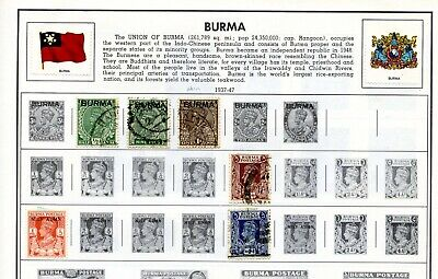 Burma stamps including Burma Occupation stamps, mint hinged and used, see images