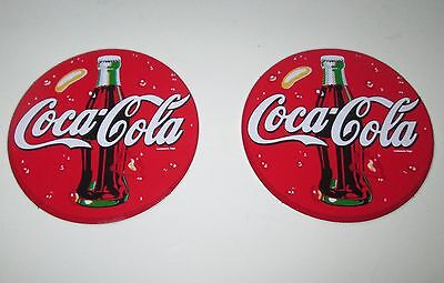 "Coca Cola Peel-N-Stick Decals ~ Lot of 2 ~ 2"" Round"
