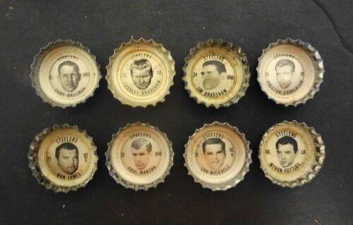 🌟1964 Coke Coca Cola PITTSBURGH STEELERS Bottle Caps 8 Different Ballman