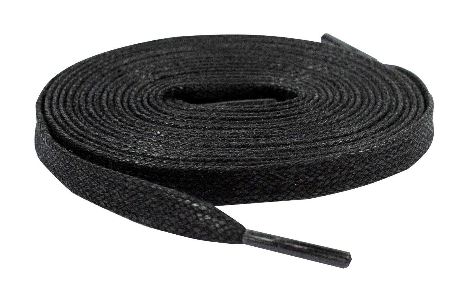Premium FLAT WAX SHOE LACES JORDAN NIKE Asics NMD supreme Black Lace Envy Clothing & Shoe Care