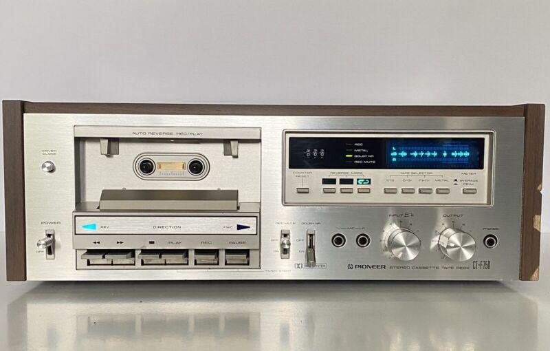 Pioneer CT-F750 Cassette Deck Auto Reverse New Belts Works Amazing Sound Vtg 80s