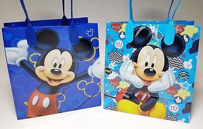 12 Mickey Mouse Candy Bags Mickey Goodie Bags Treat Boxes Mickey Party Favor - Mickey Treat Bags