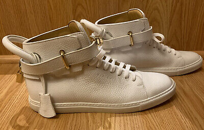 Buscemi White 100mm High Top Golden-Padlock Sneakers size EU 42 - US 10 Italy