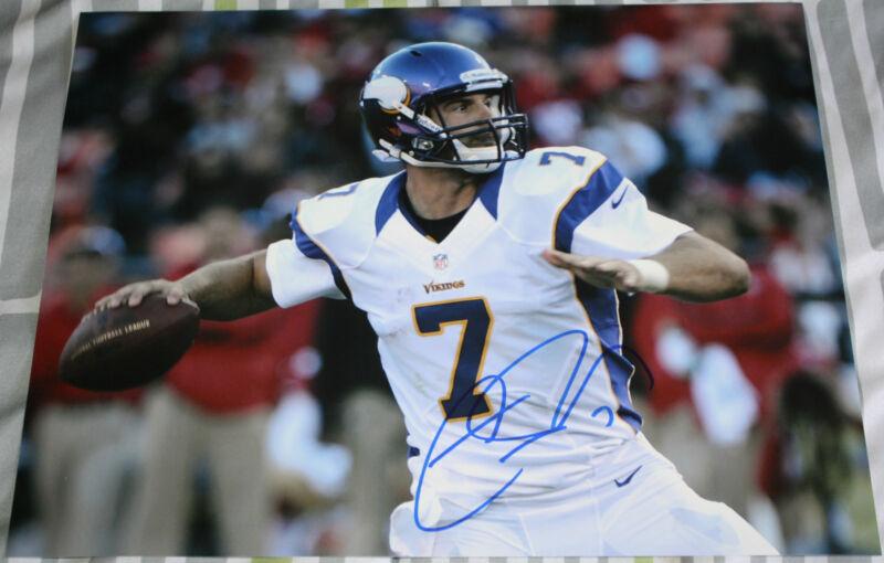 Christian Ponder signed 11 x 14, Minnesota Vikings, Florida State, COA