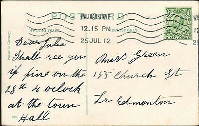 Julia Green. 155 Church Street, Edmonton 1912   RL.26