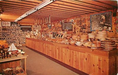 Holland Michigan~Wooden Shoe Factory~Interior~Bowls~Souvenirs~1959 - Holland Wooden Bowls