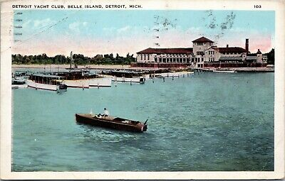 Detroit Yacht Club, Belle Island posted 1928 Military Training camp cancel