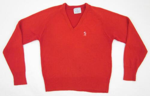 Vintage! Walt Disney Productions Red V-Neck Mickey Mouse Sweater Sz. Small