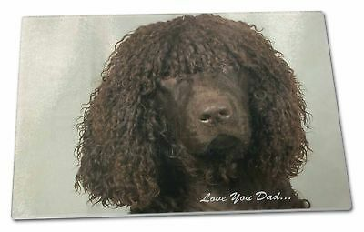 Irish Water Spaniel 'Love You Dad' Extra Large Toughened Glass Cutti, DAD-59GCBL