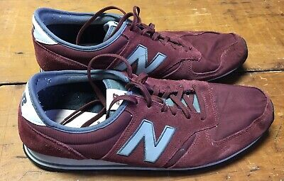 New Balance Men's 420 Shoes Gray Grey & Red Burgundy Size 13 U420BPL