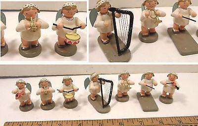 ERZGEBIRGE 7 PC KWO OLBERNHAU MARGUERITE WOOD ANGEL ORCHESTRA MUSICIANS GERMANY