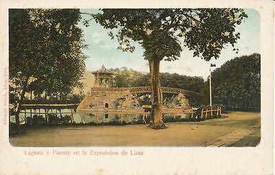 PC38706 Laguna y Puente en la Exposicion de Lima. Eduardo Polack. B. Hopkins comprar usado  Enviando para Brazil