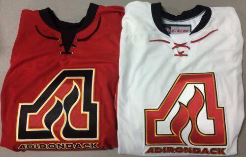CCM Edge Adirondack Flames Pro Stock Game Jerseys White / Red