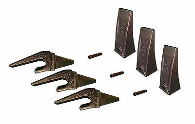 3 Mini Excavator Weld On Shanks Bucket Dirt Teeth Pins - 230x156 X156l P156