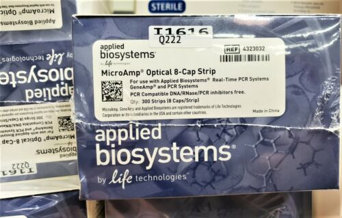 Applied Biosystems MicroAmp Optical 8-Cap Strips 300/pk for Real Time PCR System