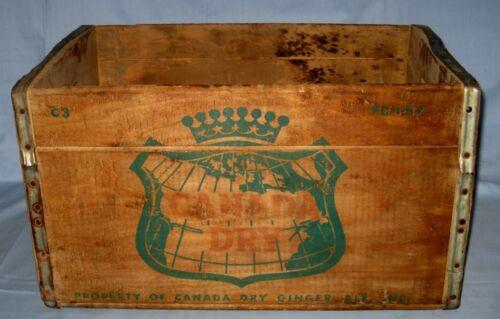 VTG CANADA DRY GINGER ALE WOODEN CRATE BOX Soda/beverage case Barn Find!