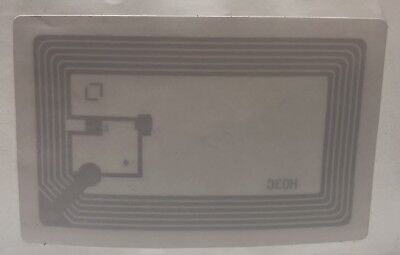 10 Library Tag 13.56mhz Nxp Icode Slix Eas Hf Rfid Sticker Labels Iso 15693