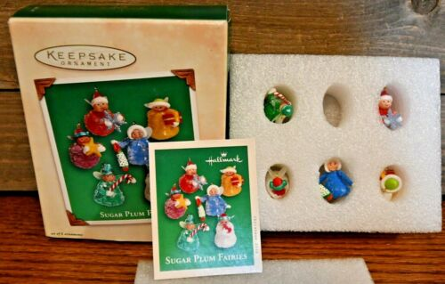 Vintage Miniature Hallmark Keepsake Ornaments Sugar Plum Fairies 2002