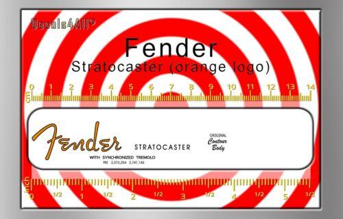 Fender Stratocaster  - Waterslide decal (orange logo)