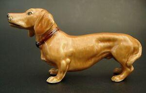 Ceramic DACHSHUND DOG Curio Display Ornament Porcelain Pet Dog Ceramic Animal
