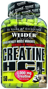 Weider Creatine HCL (14,12€/100g) 150 Kapseln Dose Kreatin Creatin WeiderPartner