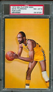 1973 NBA Players Association Nate Thurmond postcard PSA 8