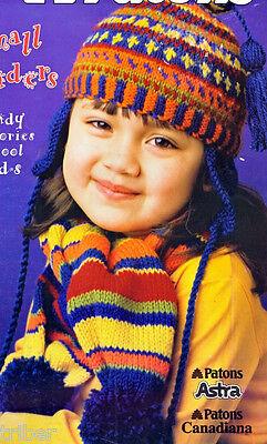 10 Childrens Hats Helmets Stocking Cap Mitts Dinosaur Jester Knitting PATTERNS