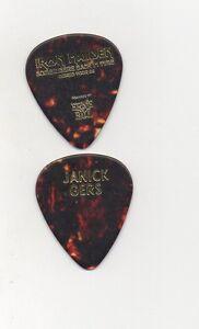 IRON-MAIDEN-JANICK-GERS-2008-guitar-pick-picks-plectrum-VERY-RARE