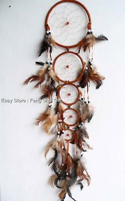 Long/Big Handmade Wall Hanging Feather Dream Catcher Decoration Ornament #H