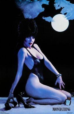 Elvira: Mistress of Dark Moonbathing Pin Up Poster From 1987 NEW UNUSED ROLLED