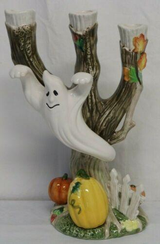 *NEW* Fitz & Floyd Halloween Harvest Ghost Candleholder