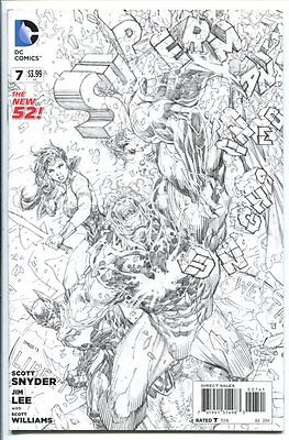 SUPERMAN UNCHAINED #7 SKETCH VARIANT 1/300 JIM LEE DC COMICS 2015 NM-