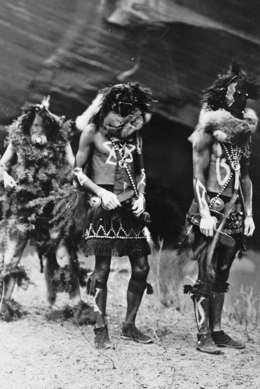 New 5x7 Native American Photo: Yebichai Indian War Gods in Ceremonial Dress