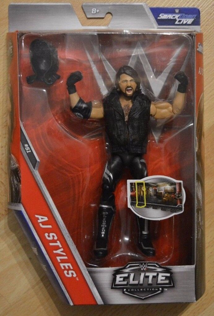 Mattel WWE Smack Down Live Elite Collection Wrestling-Actionfigur AJ Styles N.51