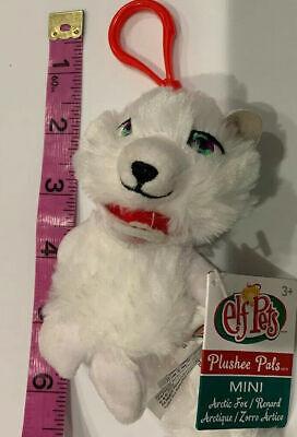 "Elf on the Shelf Pets Plush Pals Clip-On 4"" Arctic Fox New Plush Toy Keychain"