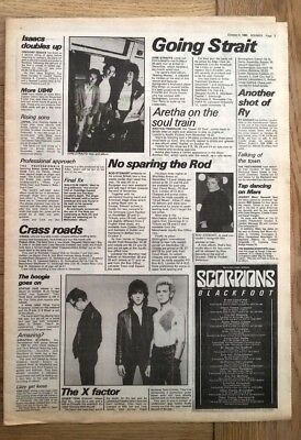 DIRE STRAITS ROD STEWART GENERATION X 'news' 1980 ARTICLE / clipping