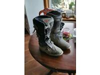 Dirt bike boots. Thor size 10