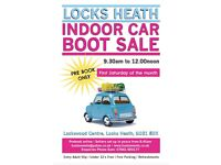 LOCKS HEATH INDOOR CAR BOOT SALE - HAMPSHIRE - EVERY 1ST SATURDAY OF THE MONTH
