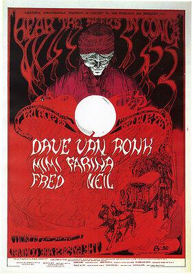 Print – Dave Van Ronk, Berkeley Community Theatre, 25 August 1967
