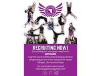 Allstar Cheer Squad RECRUITING NOW for ALL AGES!