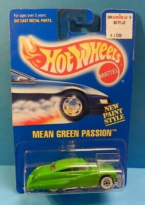 Hot Wheels Mean Green Passion - Error - Missing Side Tampo #263